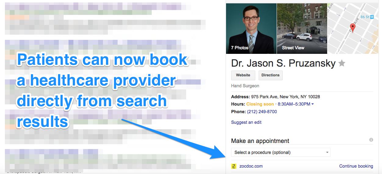 Book Dr Appt Google