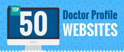 Infographic – Top 50 Doctor Profile Websites