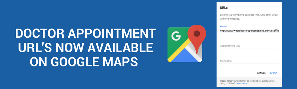 New Google My Business Feature: Doctor Appointment URL's Now Available On Google Maps