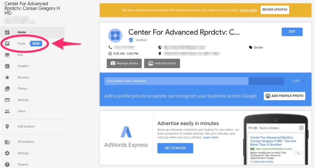 Google My Business Posts Account Setup